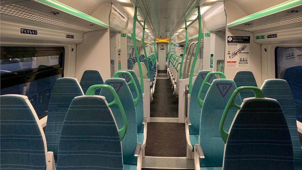 On board the King's Lynn to London King's Cross service