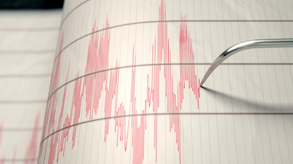 Ondas dibujadas por un sismógrafo. NO USAR BBC
