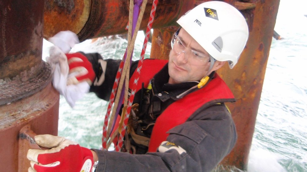 Francois Botha trabajando offshore