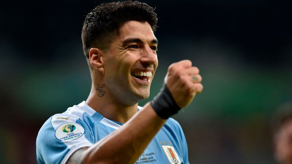 Luis Suárez celebra