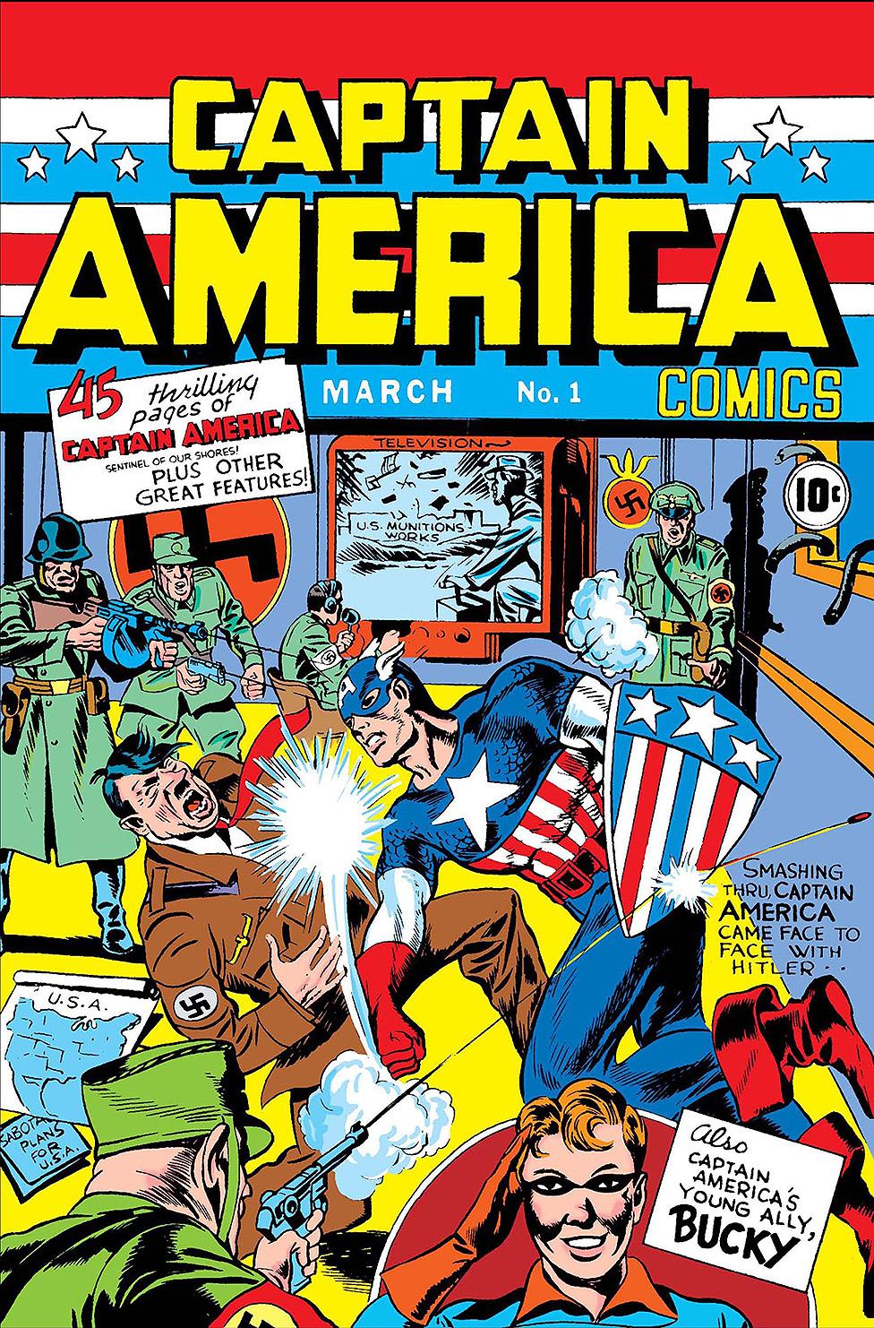 Captain America golpea a Hitler