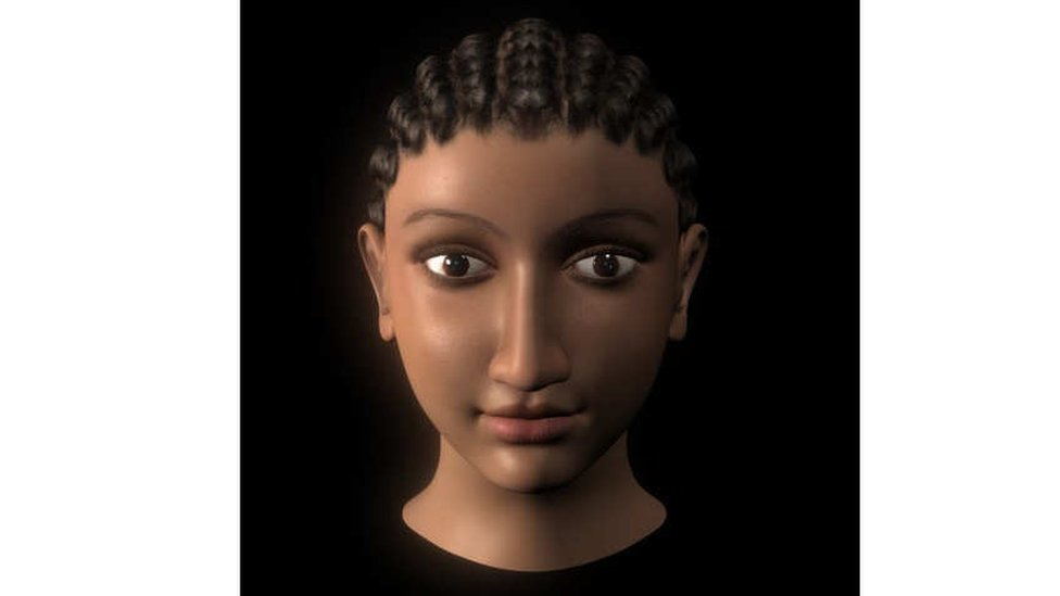 Cleopatra's face, according to the reconstruction carried out by British archaeologist and Egyptologist Sally Ann Ashton
