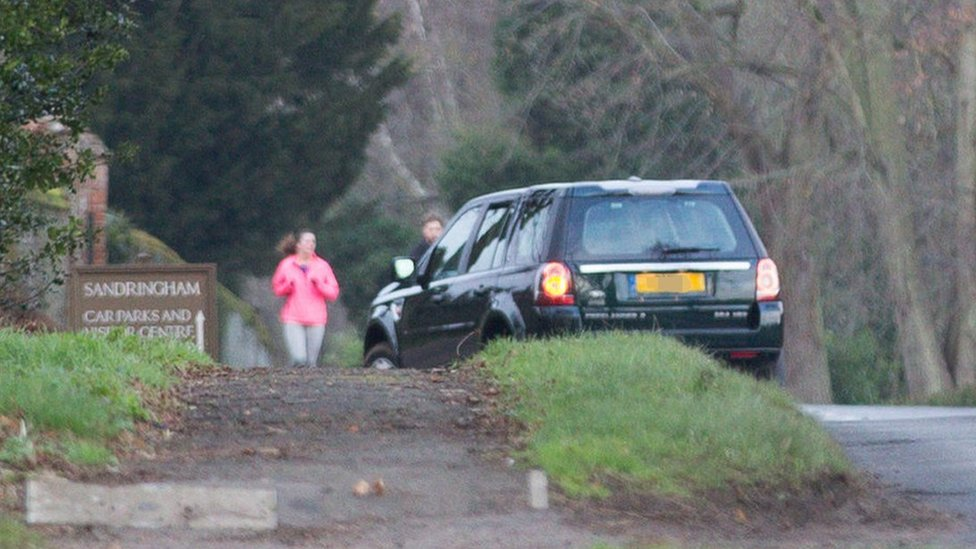 Prince Philip seen behind the wheel two days after crash