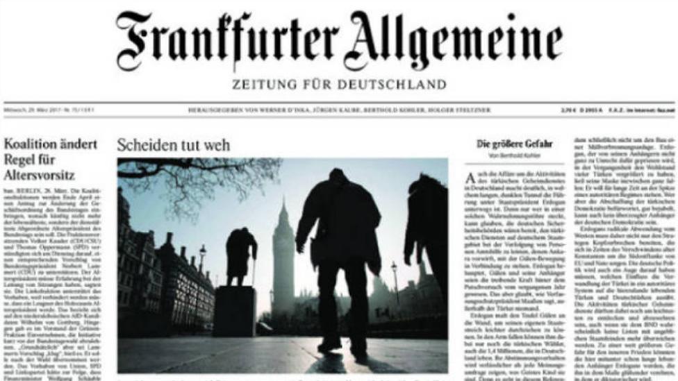 German newspaper Frankfurter Allgemeine