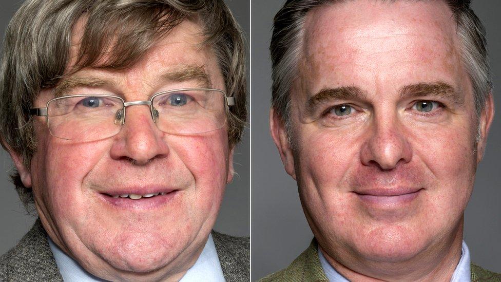 Iain Taylor (left) and Colin Clark