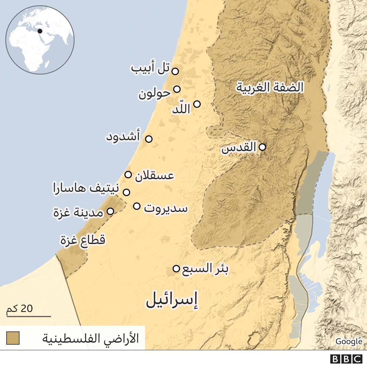 الأراضي الفلسطينية وإسرائيل