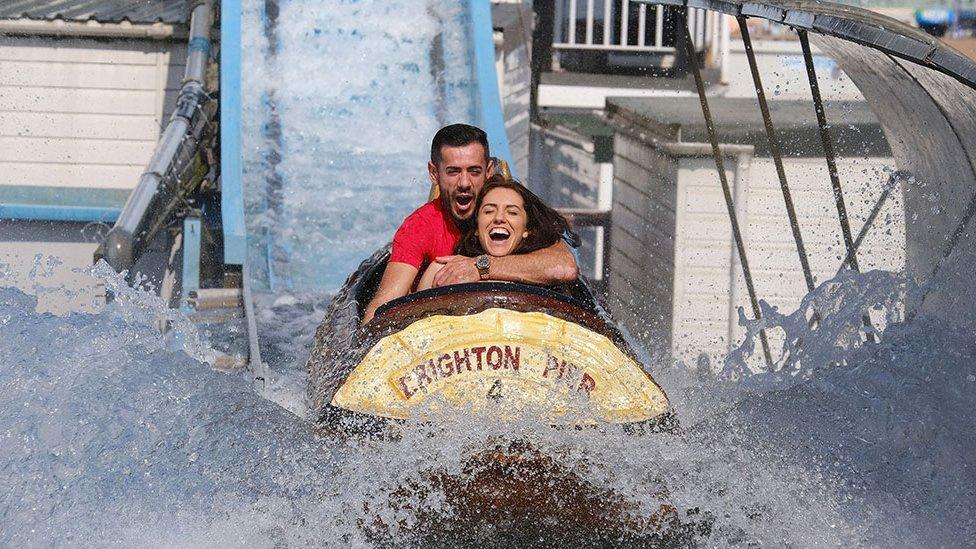 Water chute in Brighton