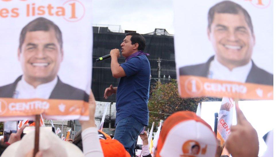 Andrés Arauz, candidato del correísmo