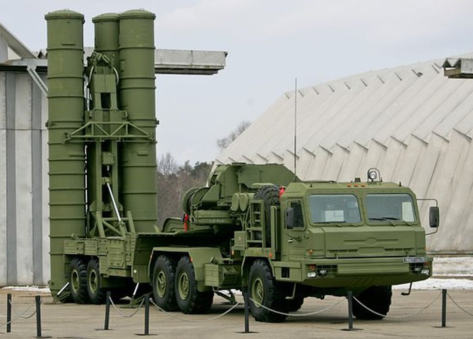An S-400 Triumph missile system