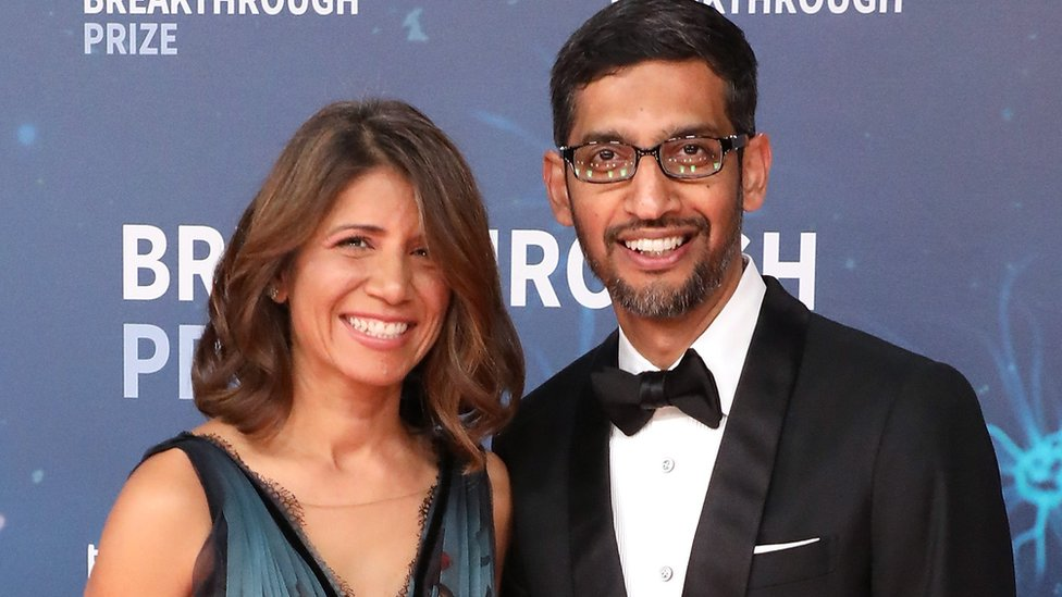 Anjali and Sundar Pichai