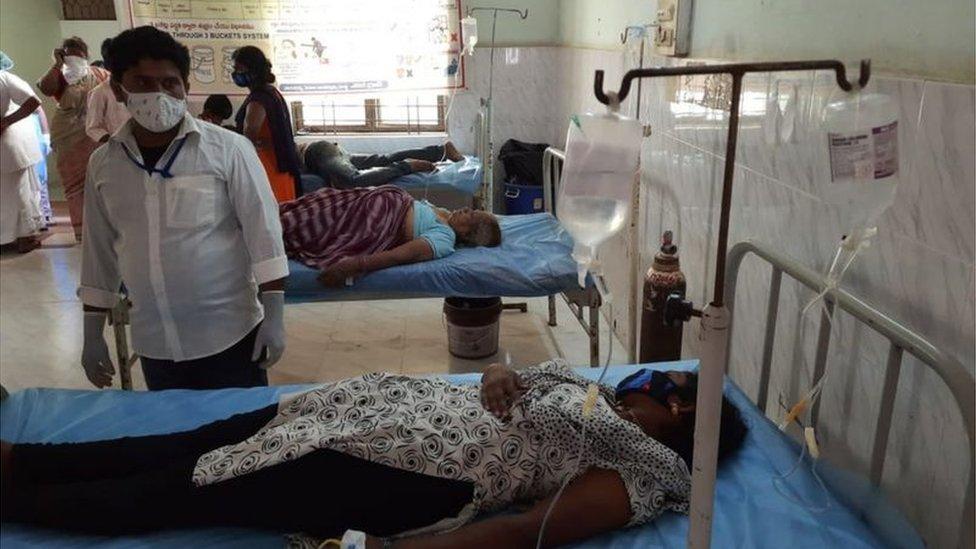 A patient at hospital
