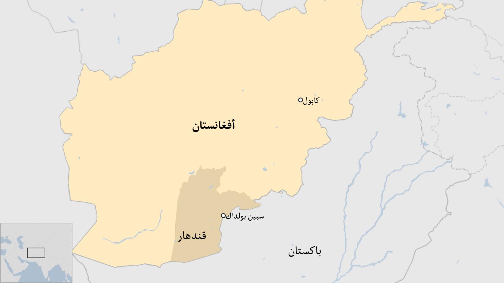 خارطة أفغانستان.