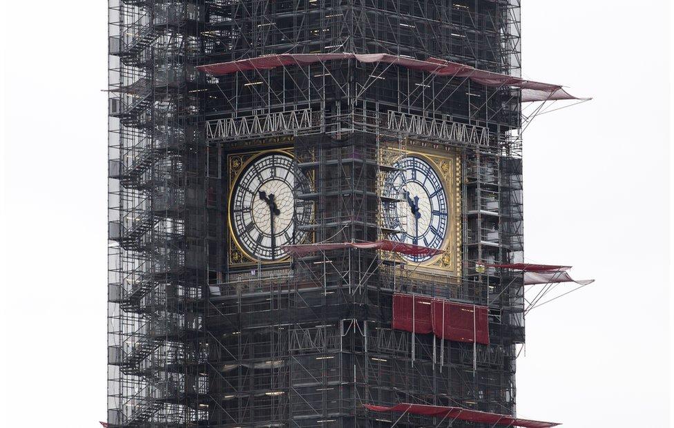 Big Ben being renovated