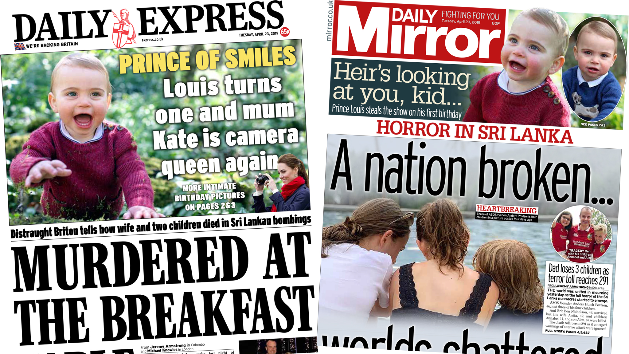 Newspaper headlines: 'A nation broken' by bombings