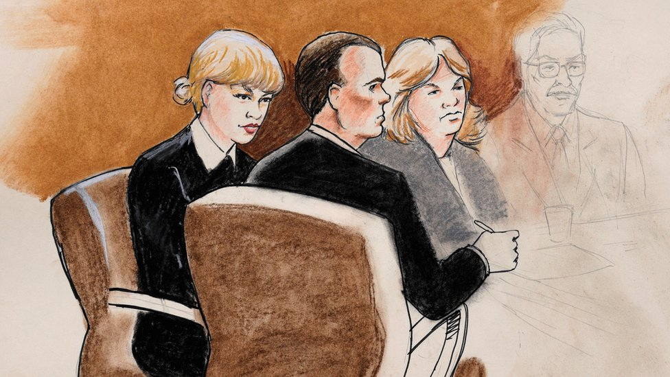 Taylor Swift court sketch