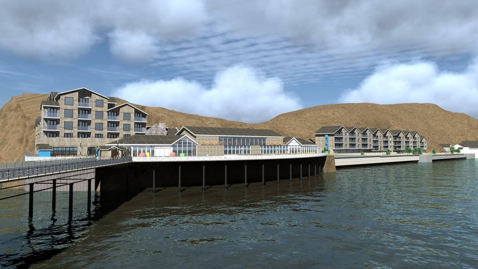 Artist impression of proposed Mumbles Pier redevelopment