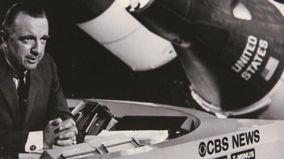 Walter Cronkite reporting about NASA for CBS News, circa 1969 - 1974