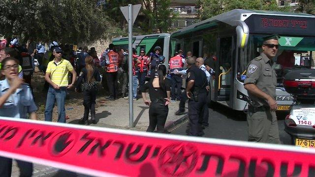 Scene of bus attack in Jerusalem