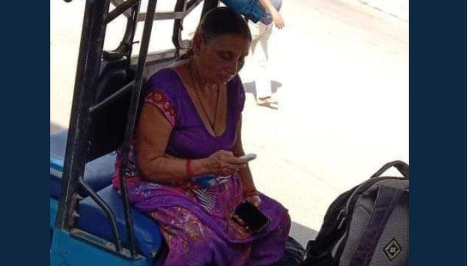 Chandrakala with her son
