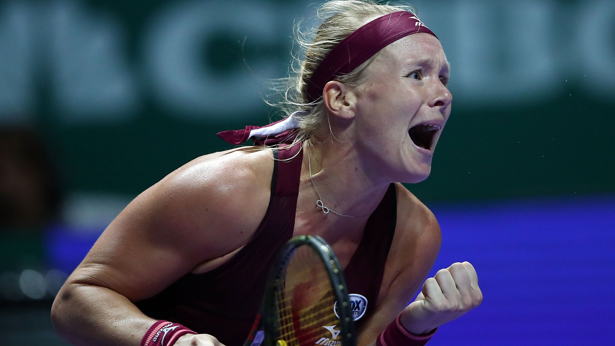 WTA Finals: Kiki Bertens beats Angelique Kerber as Sloane Stephens beats Naomi Osaka