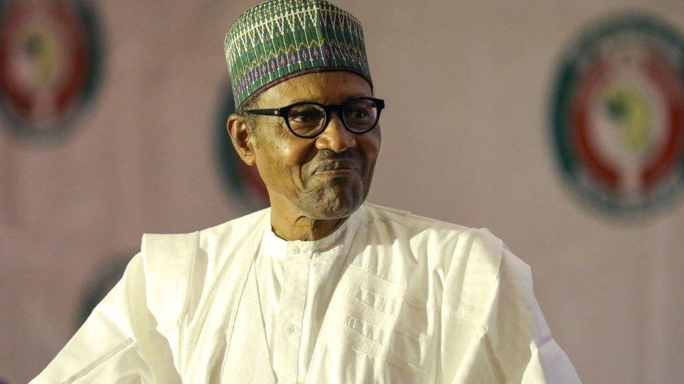 Nigerian President Mohammadu Buhari, December 2019