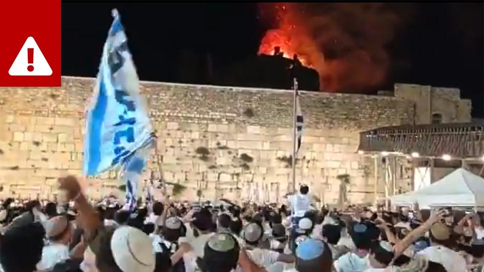 Video yang mengeklaim Masjid al-Aqsa 'terbakar'
