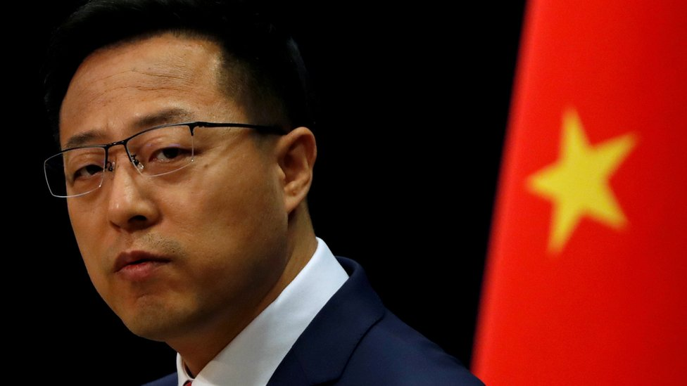 Chinese Foreign Ministry spokesman Zhao Lijian attends a news conference
