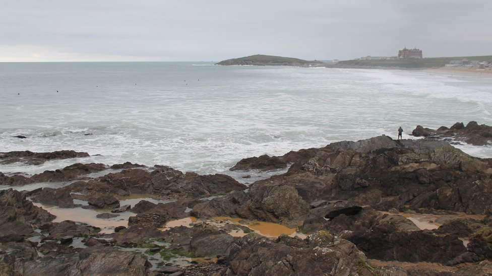 Raw sewage spill at Fistral surf beach Newquay