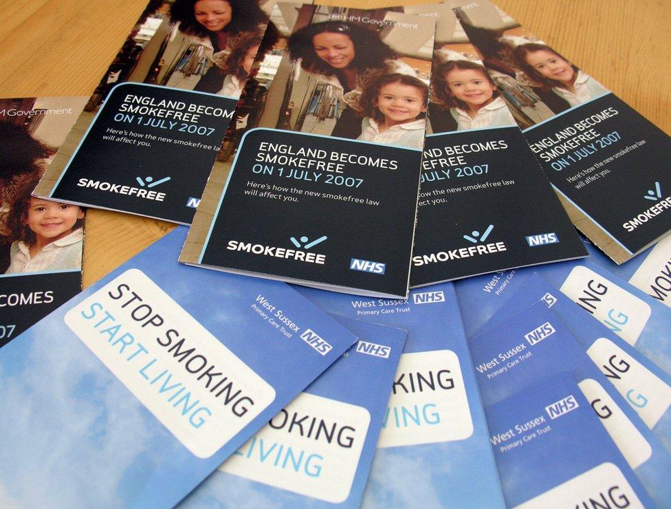 Smoking ban NHS leaflets