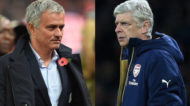Chelsea's Jose Mourinho and Arsenal's Arsene Wenger