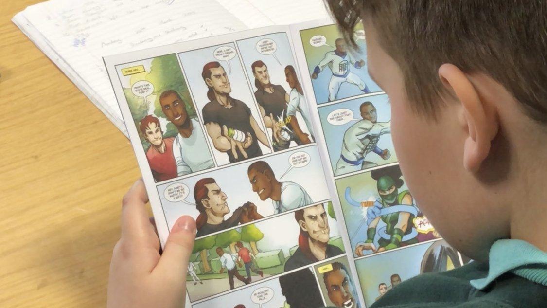 Comic books teach mind over matter