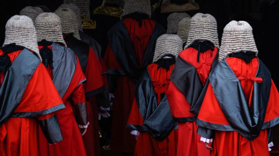 出席法律年度開啟典禮的各級香港法官(13/1/2020)
