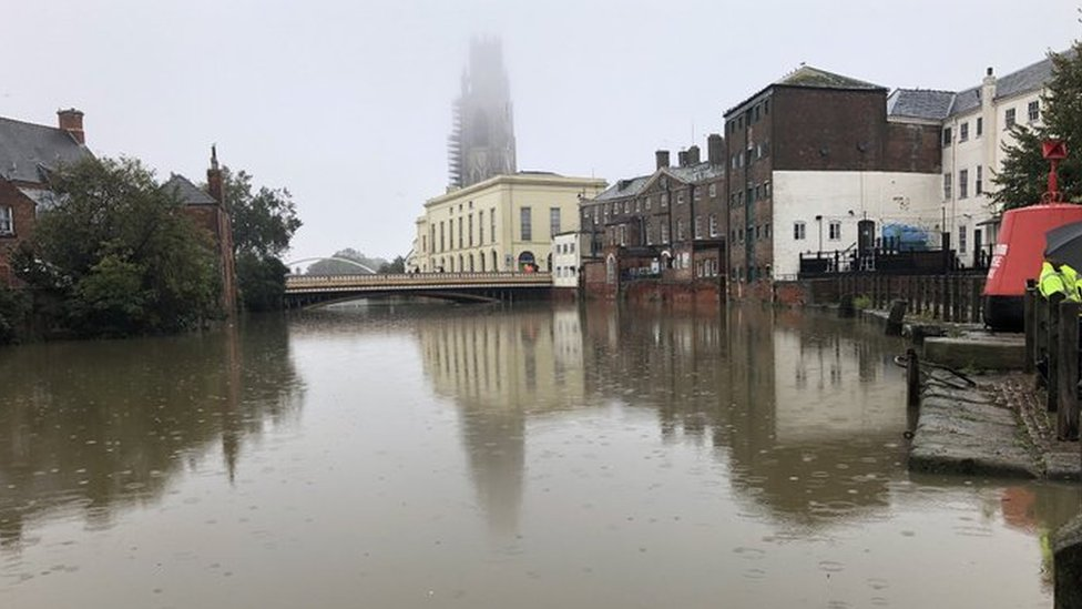 The River Witham in Boston