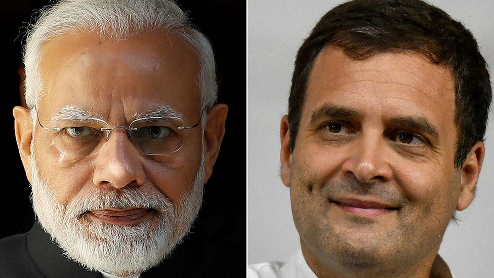 莫迪(圖左)將尋求延續他政黨的領導地位,迎以接拉胡爾·甘地(圖右)為首的印度全國人民黨挑戰。