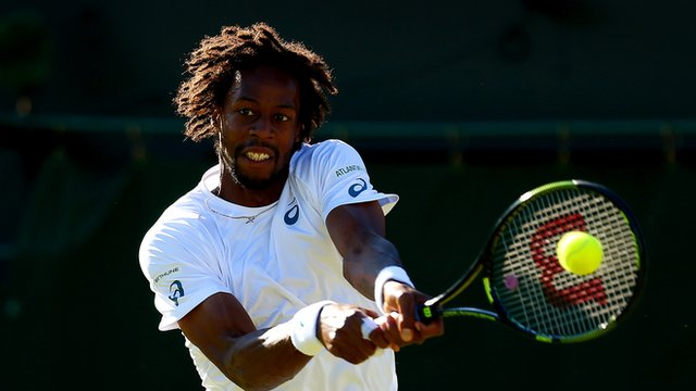 Wimbledon 2015: Gael Monfils comes up with moment of genius