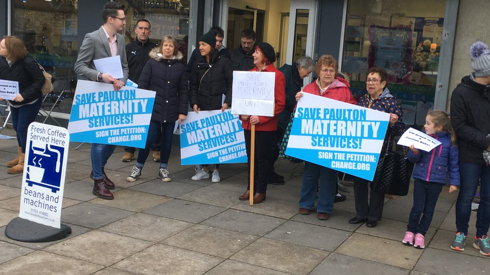 Protests over Trowbridge and Paulton maternity unit cuts