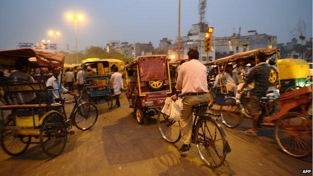 Indian street traffic