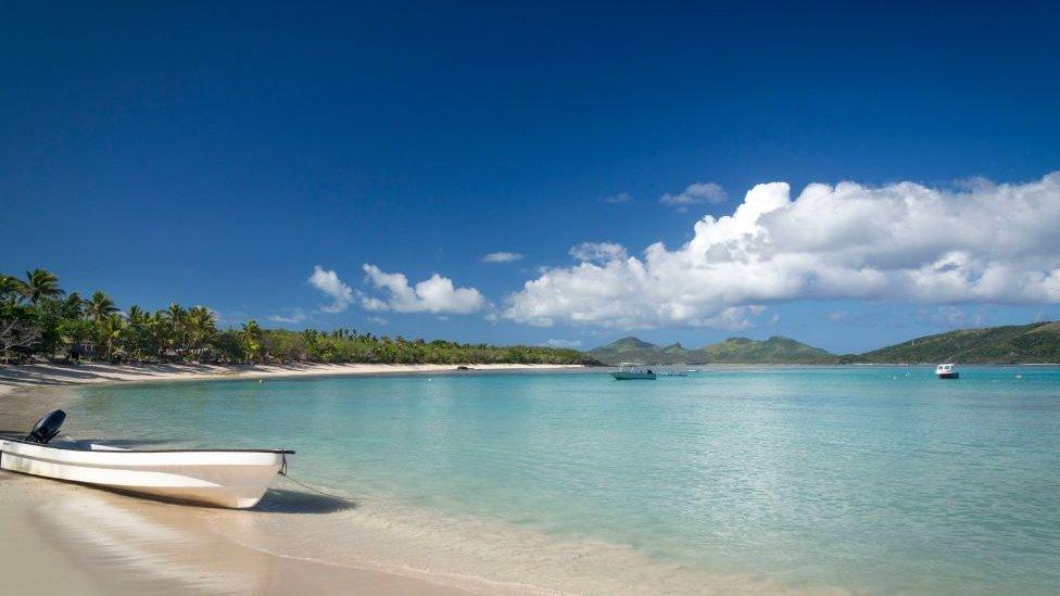 La bahía de la isla Nacula, en Fiyi