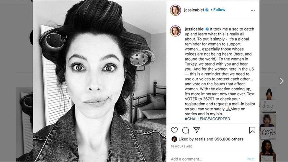 Jessica Biel posts a black and white photograph on Instagram