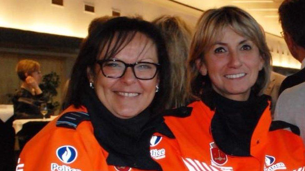 Soraya Belkacemi (L) and Lucile Garcia (R)
