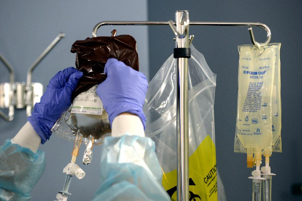 Un tratamiento de quimioterapia