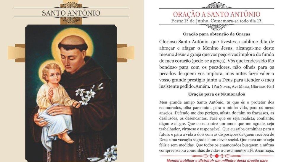 Santinho de Santo Antônio