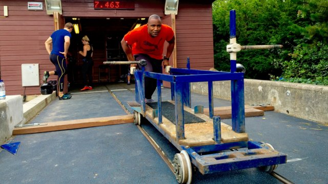 Sprinter Mark Lewis-Francis tries bobsleigh
