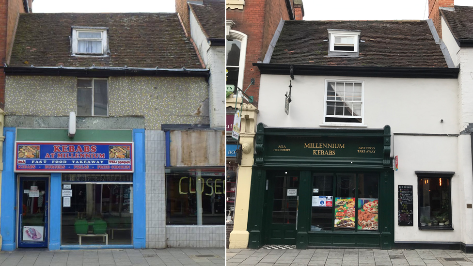 Millennium kebabs before and after renovation