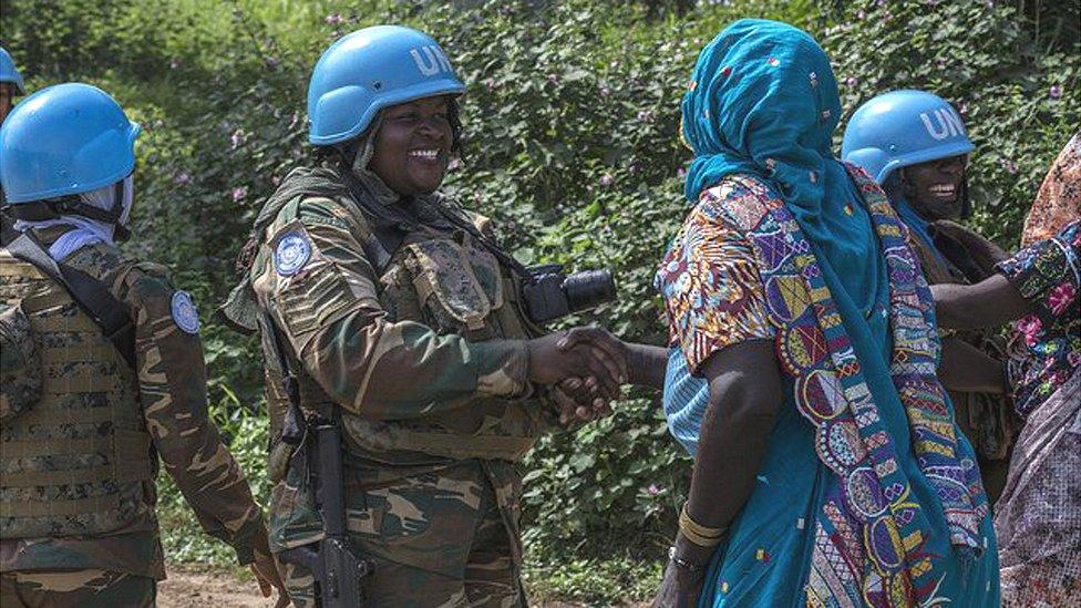 زامبيات في مهمة حفظ السلام التابعة للأمم المتحدة في جمهورية أفريقيا الوسطى