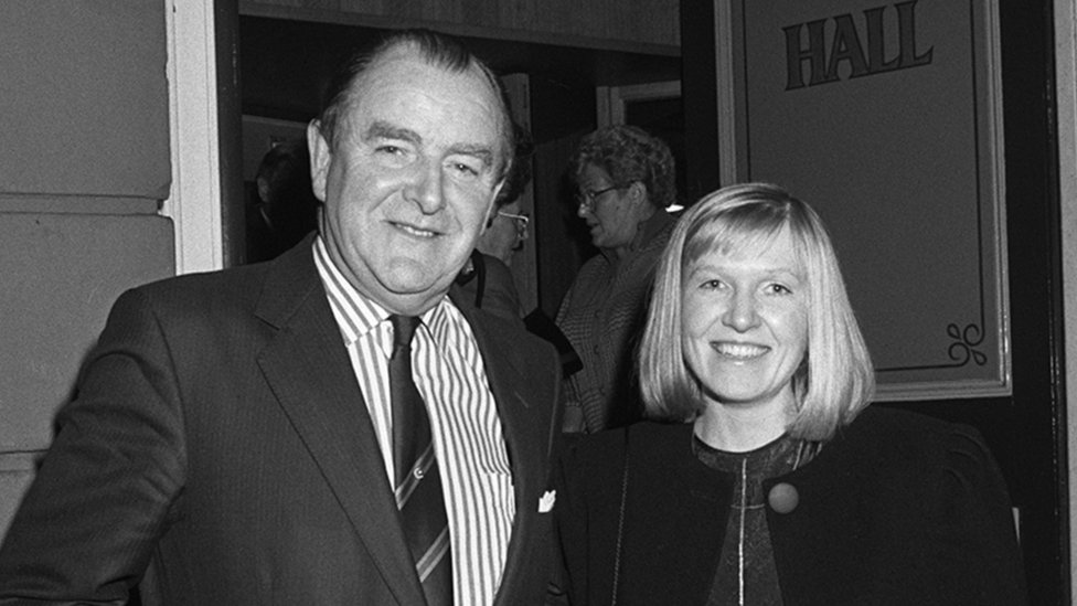 Sir Jack Hermon and Sylvia Paisley at a concert in the Ulster Hall in 1988