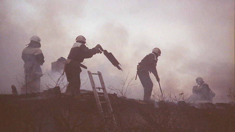 Bomberos en Chernobyl