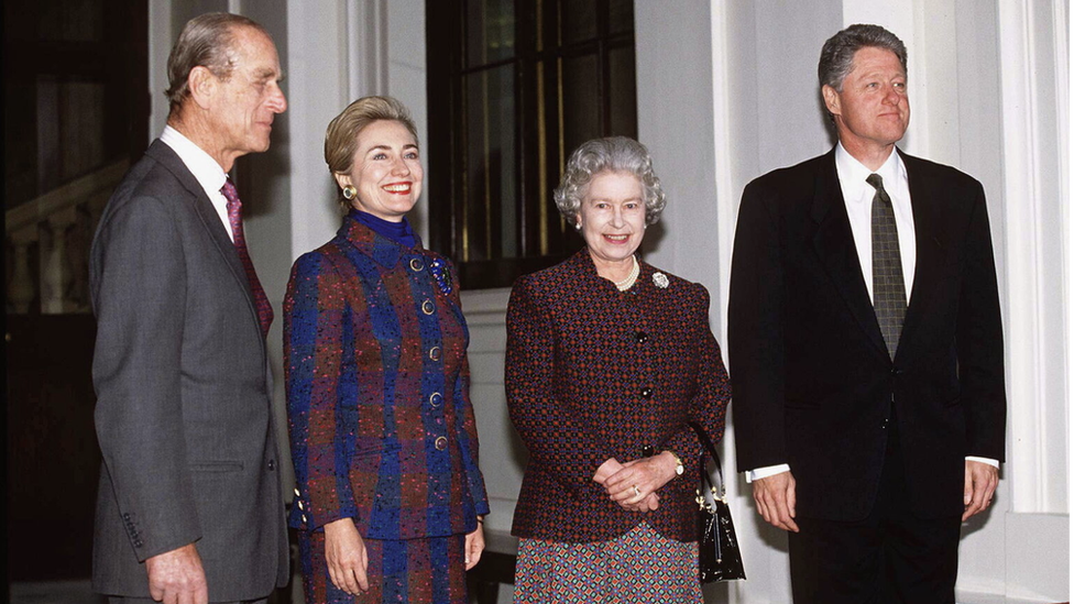 The Clintons, Prince Phillip and the Queen in 1995