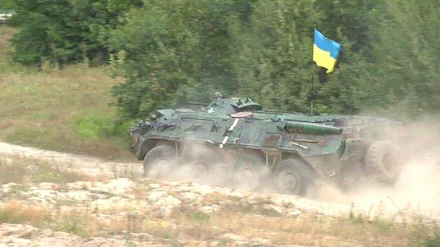 Ukrainian military exercise