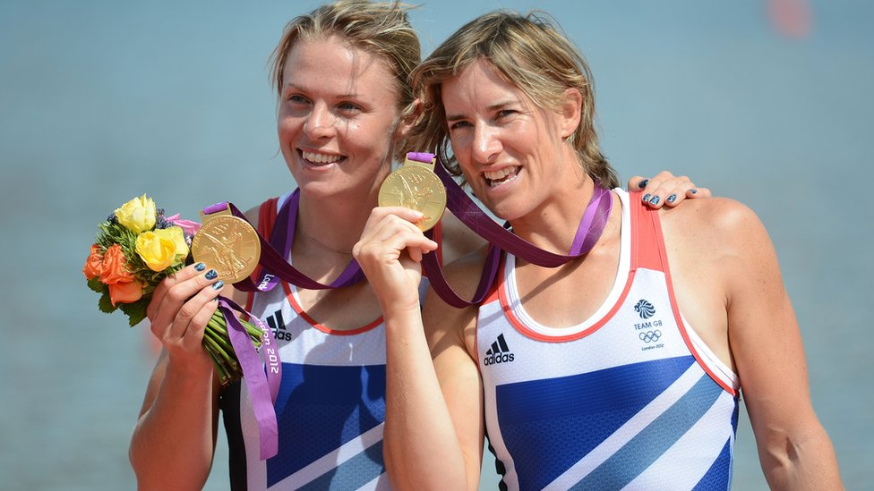 Anna Watkins, pictured with Katherine Grainger (r) in London 2012